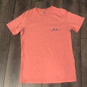 Fish Hippie t shirt- coral. Women's small.
